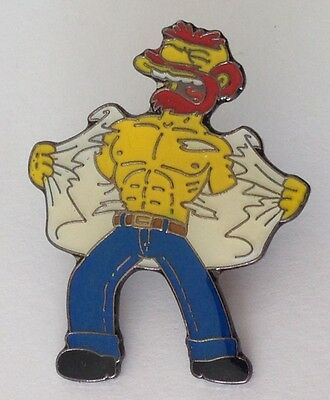Groundskeeper Willie The Simpsons Pin Badge Scottish TV Cartoon Character (D8)