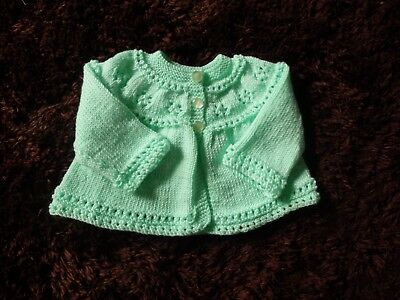 NEW - Hand knitted baby matinee jacket