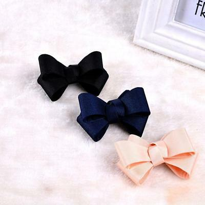 Color Grosgrain Ribbon Red Black Ivory Wedding Fashion Bow Shoe Clips