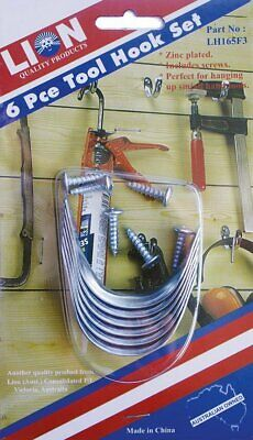 Lion Small Tool Hanger Set Garage Workshop Wall Tidy 6 Piece