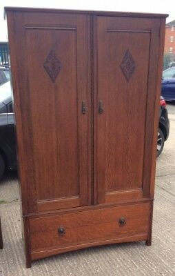 Oak Antique Style Wardrobe with Drawer