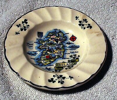 CARRIGALINE POTTERY Pin / Trinket Dish - MAP OF IRELAND