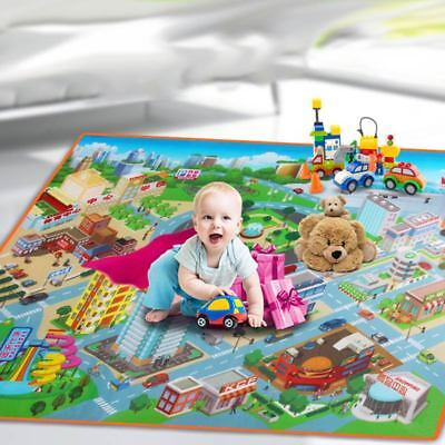 NEW Children Baby Crawling Blanket Carpet Rug City Walk Road Traffic Play Mat AU