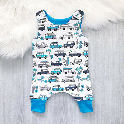 Cute Newborn Infant Kid Baby Boy Girl Romper Bodysuit Jumpsuit Clothes Outfit AU