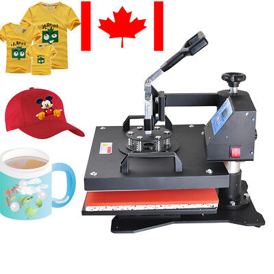 【CA】8 in1 Heat Press Machine Digital Transfer Sublimation DIY Customized
