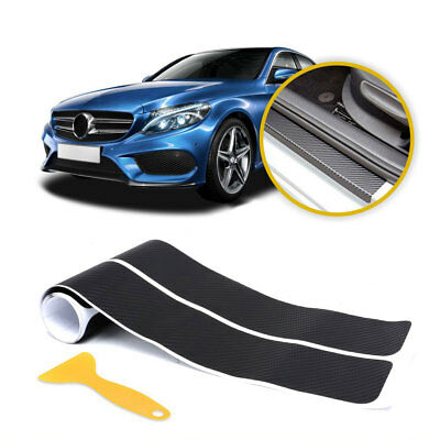4x Car Accessories Door Sill Scuff Welcome Pedal Protect Carbon Fiber Stickers