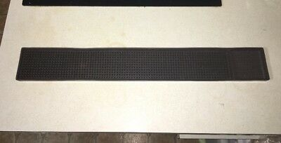 Bar Service Mat 3.25x23.5 Brown Rubber Spill Stop Q