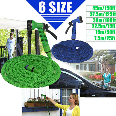 Expandable Flexible Garden Water Hose Pipe Car Washing with Spray Nozzle Gun