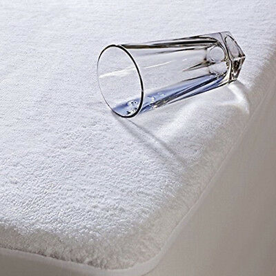 Waterproof Terry Towel Mattress Protector Fitted Sheet Cot Bed Covers (60 X 120)