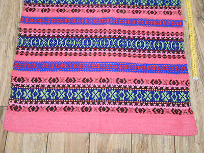 Vintage Traditional Ukrainian Woven Rug runner 0,7x2m Wool 1960s Great condition
