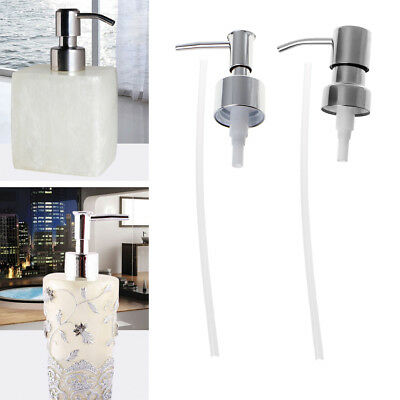 1x Stainless Steel Soap Dispenser Nozzle 12 OZ Built in Hand Lotion Pump Fitting