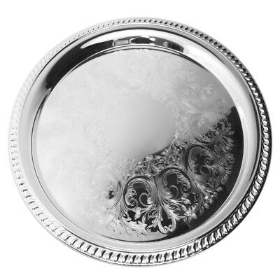 NEW Whitehill Silver Plated Gadroon Etched Tray 36cm