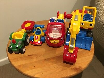 Bulk Lot Wow Toys Fire Engine Digger Race Car Tractor In Highett 3190