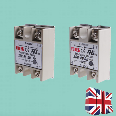 SSR40DD SSR25DD Solid State Module Relay DC-DC for Heated Bed Heater UK Stock