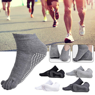 Mens Anti-Blister Sports Compression Running Five Finger Toe Socks 5 Colors UK