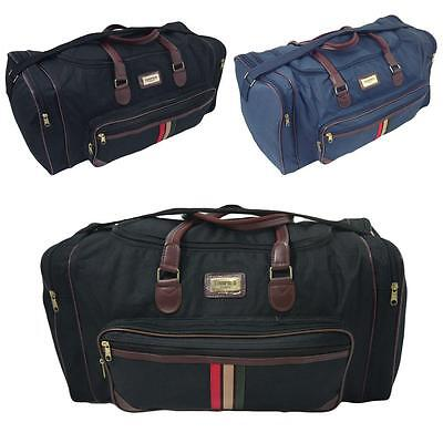 """Large Mens 22"""" Travel Overnight Hand Luggage Bag Gym Sports Holdall Duffle"""