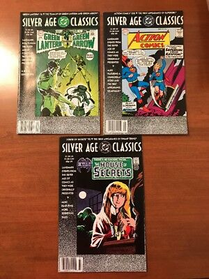Silver Age Classics LOT of 3 DC 1992 Comics #76 92 And 252 Amazing Condition