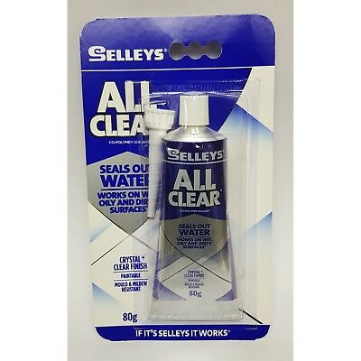 Selleys 80g All Clear Multipurpose Sealant  Works On Oily and Dirty Surfaces