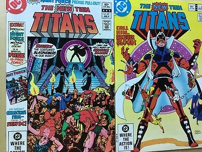 New Teen Titans Lot George Perez Marv Wolfman 80's Greatness! 8 Issues