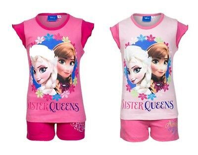 Girls Disney Frozen Sister Queens Print Short Pyjama/Lounge Set - Sizes Age 4-12