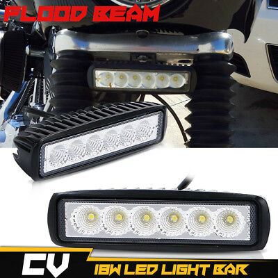 2x 7INCH 36W LED WORK LIGHT BAR FLOOD OFFROAD ATV FOG TRUCK LAMP 4WD 12V 6""