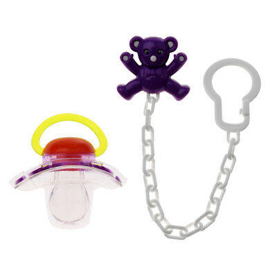 1X Baby Säugling Schnuller Soother Nipple Ribbon Leine Strap Chain ClipHalter RA