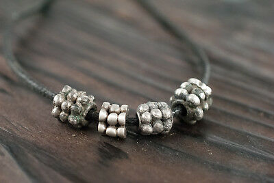 Ancient Viking Silver Beads Authentic Artifact c. 900-1000 AD Wearable