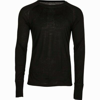 Outrak Merino Blend Long Sleeve Top - Black