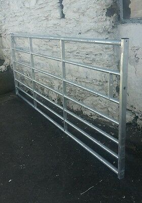 Galvanised 7 rail Metal Field Yard HEAVY Gate(42kg) Farm Security Good quality