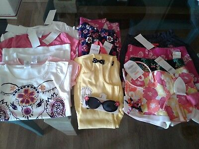 Nwt $304 Rv Gymboree Outlet  Girls  Size 5 - 5T 16 Pcs  Lot Outfits Summer