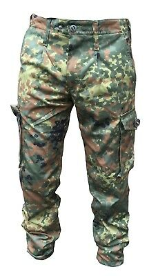 German Flecktarn Camouflage Army/military Combat Trousers New - P1