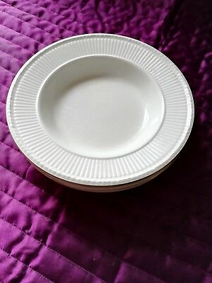 Wedgwood Edme Rimmed, Soup/cereal (4Bowls) 8 Inches (Gold Edging)