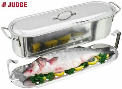 Judge Speciality Stainless Steel Fish Poacher with Lid 45cm