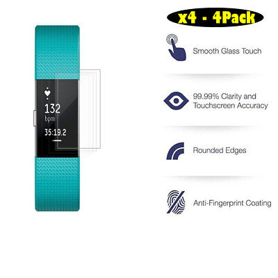 4 Pack Soft Screen Protector Film For Fitbit Charge 2 Smart Watch Anti Scratch