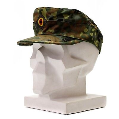 1516eb2f08b Genuine Original German army Flecktarn cap BW woodland camo military hat NEW