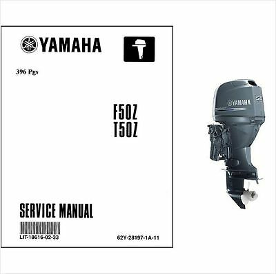 Yamaha F50 T50 4-Stroke Outboard Motor Service Repair Manual CD - F 50 HP F50Z