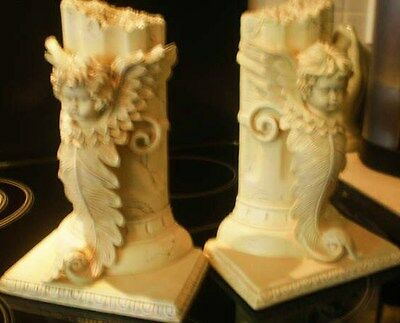 2 x Latex Craft Moulds For Cherub Bookends Art & Crafts Hobby Business