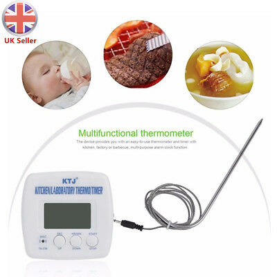 Digital LCD Food Thermometer Cooking BBQ Meat Poultry Kitchen Temperature Probe