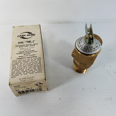 Cash Acme FWL-2 Pressure Relief Valve with Test Lever