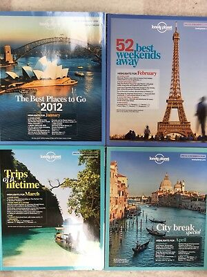 2012 Lonely Planet Traveller Magazines January To April Issues 37-40