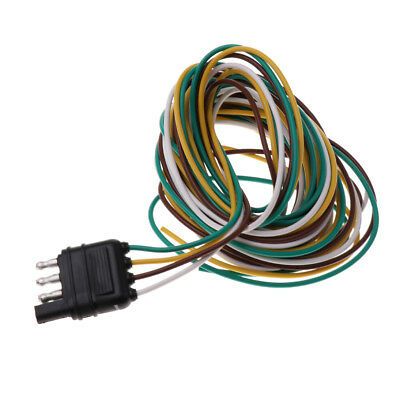 High Quality 4 Pin RV Trailer Light Wiring Plug Adapter Flat Wire Connector