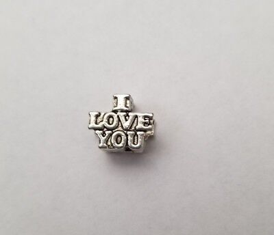 New Silver Tone Plated 'I Love You' Face Bracelet Charm