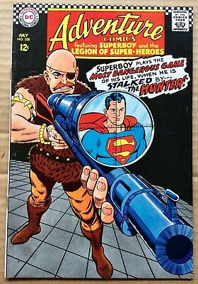 ADVENTURE COMICS #358 (1967) DC Silver Age Superboy, Legion of Super-Heroes F/VF