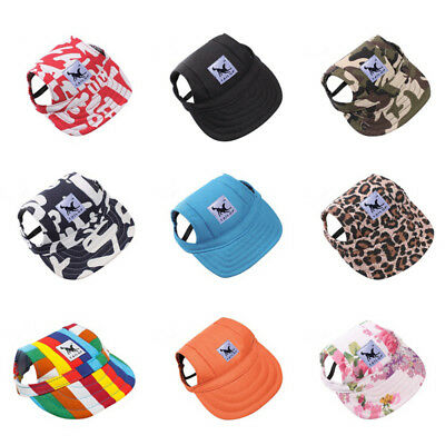 Hot Pet Dog Princess Hat Visor Sunbonnet Puppy Summer Outdoor Sun Cap Canvas LTM