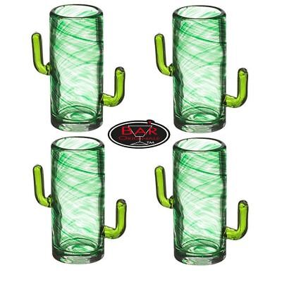 Bar Originale The Mixology Collection CACTUS Shot Glasses Glass Set of 4 50ml