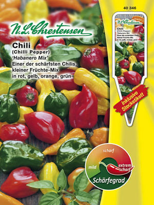 Chilli 'Habanero Mix' Capsicum Chinense, 10 Seeds Extremely Sharp 40346