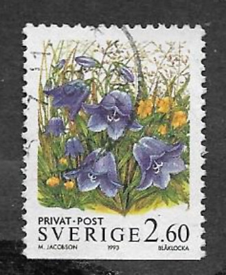 Sweden Postal Issue, Used Definitive Stamp 1993 - Discount Stamps - Flowers