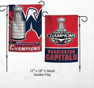 2018 Stanley Cup Champions Double Sided Garden Flag Washington Capitals