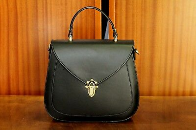 1e5b7ad771 VERSACE 19.69 Women s 100% Leather Black Handbag New with Tags Made in Italy