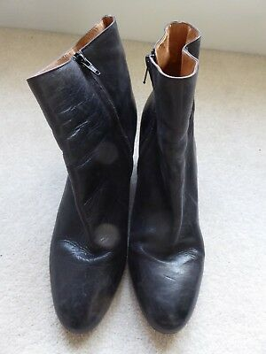 Ankle Maison Suspended Martin Leather Heel 7 Uk Size Boots Margiela rqqB7PnF